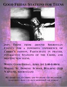 Good Friday Teen Flier