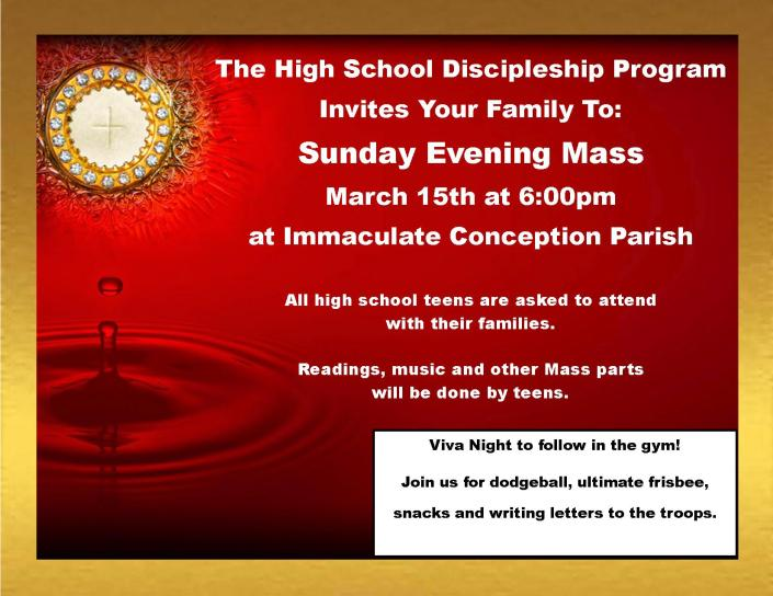 Sunday Evening Mass March 15th